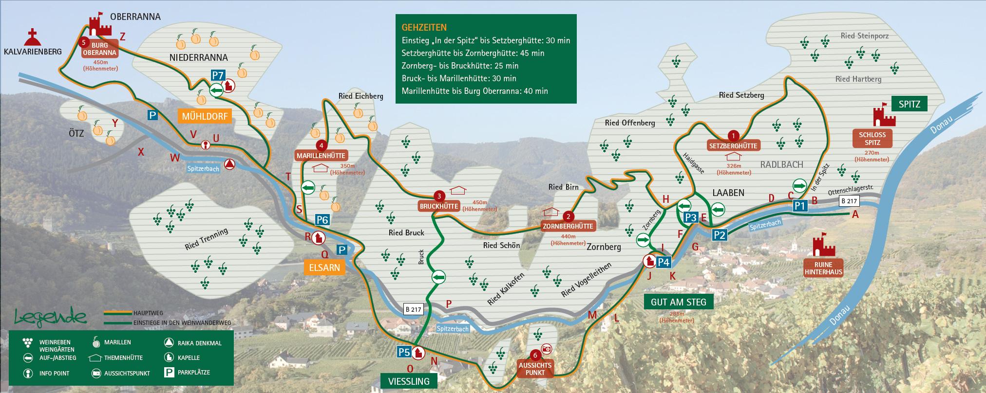 Wachau Karte.Wachau Infos